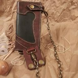 Handcrafted Leather Wallet With Chain for Sale in Waco,  TX