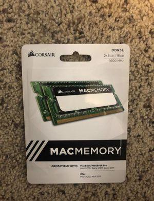 Corsair MacMemory 16GB (2x8GB) DDR3L 1600MHz Memory Kit for Sale in San Diego, CA