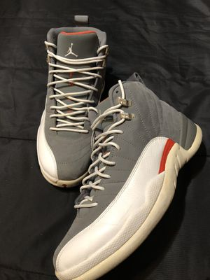 Jordans 12 cool grey retro for Sale in Houston, TX