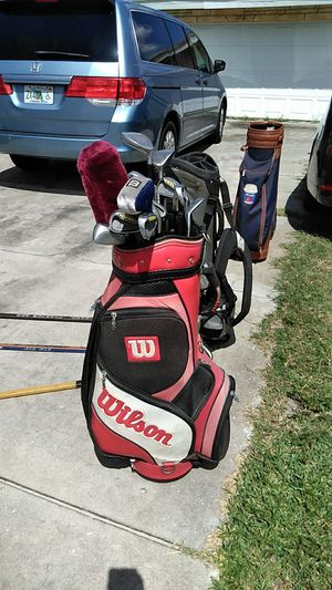 Wilson golf bag and complete set preowned for Sale in Port Richey, FL