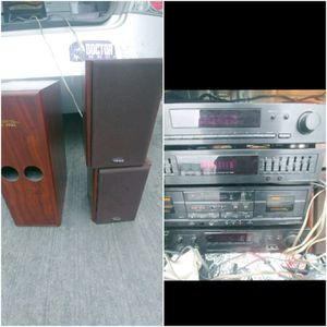 Teac Speakers and sony amp for Sale in La Puente, CA