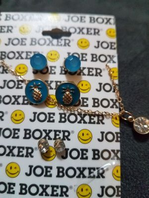 Joe boxer necklace and 3 sets of earrings. for Sale in Millcreek, UT