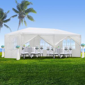 10'x20' Outdoor Canopy Party Wedding Tent White Gazebo Pavilion with6 Side Walls for Sale in Cypress, CA
