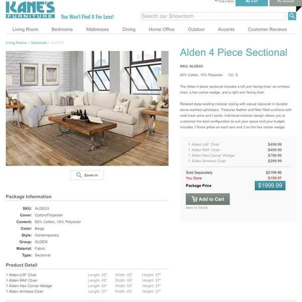 Wondrous Alden 4 Piece Sectional For Sale In Saint Pete Beach Fl Gmtry Best Dining Table And Chair Ideas Images Gmtryco
