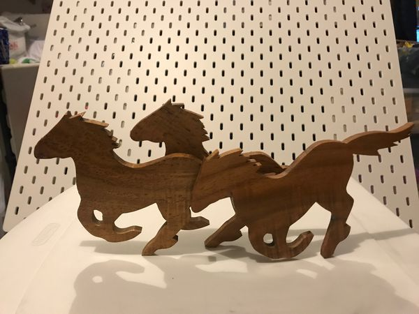MID CENTURY MODERN HAND MADE HORSE WALL HANGING
