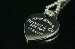 Tiffany & Co. Return to Tiffany Heart Tag Necklace Silver 925 with Box for Sale in New York, NY