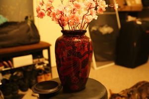 Red Flower Vase for Sale in Boston, MA