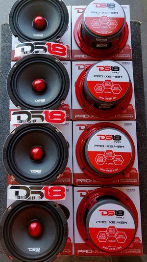 Ds18 Pro audio Loud voice midrange speakers 600 watts $29 Each (1)/Ds 18 Audio bocinas fuerte pa la voz $29 cada una (1) for Sale in Houston, TX