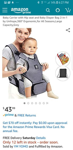 Baby Carrier with toys new never used for Sale in Oak Lawn, IL