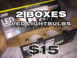 2 Boxes of LED lightbulbs total of 12 bulbs for Sale in Silver Spring, MD