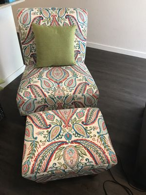 Chair, ottoman & pillow for Sale in Denver, CO