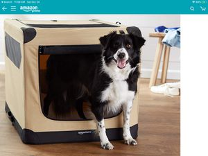 Portable folding soft dog travel crate/kennel - used for Sale in Menifee, CA