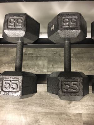55 lb dumbbell pair for Sale in Aurora, IL