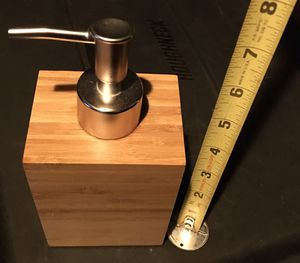 Wood finish soap dispenser bathroom or kitchen for Sale in Lynnwood, WA