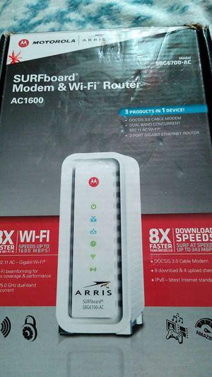 Motorola SURFboard Modem & Wi-Fi Router for Sale in Glendale, AZ