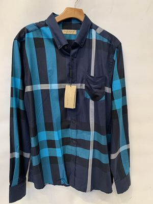 Brand New Burberry Men's Shirt Blue for Sale in Los Angeles, CA