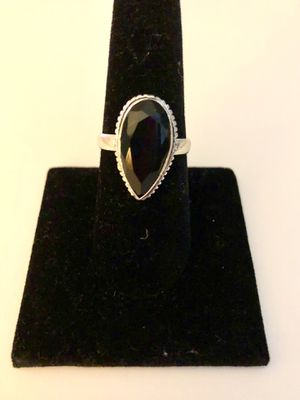 925 silver and onyx stone ring for Sale in Miami, FL