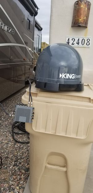 Portable satellite dish. Barely used. Purchased new motorhome with dish attached. Dish and carry case purchased new for $550. for Sale in Anthem, AZ