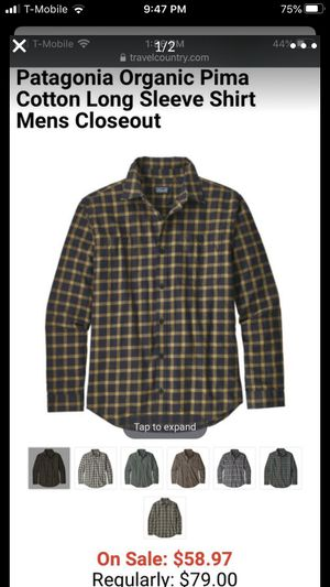 Patagonia Organic Pima Cotton Long Sleeve Shirt for Sale in Clackamas, OR
