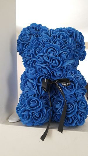Perfect Vday gift. Blue rose bear for Sale in Portland, MI