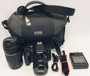 BRAND NEW CANON EOS REBEL T6i DSLR CAMERA WITH 18-55mm&75-300mm LENS AND CHARGER for Sale in Pompano Beach, FL