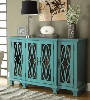 TEAL BLUE CONSOLE TABLE for Sale in Hialeah, FL