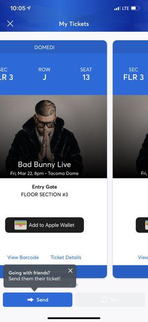 Bad bunny tickets for Sale in Granite Falls, WA