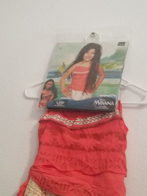 Moana costume dress with wig size Medium 7-8 for Sale in Ontario, CA