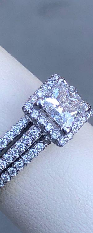 Princess Cut Engagement Ring Wedding Band Set 1.80 Total Carat Weight for Sale in Phoenix, AZ