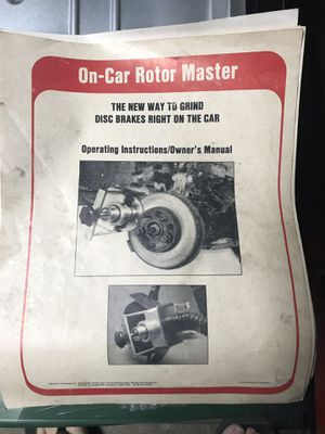 On Car Rotor-Master for Sale in Long Beach, CA