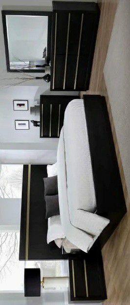 BEST OFFER Lastra Black/Gold Platform Bedroom Set for Sale in Silver Spring, MD