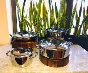 Ruffoni Opus Prima Hammered Stainless-Steel pots for Sale in Chicago, IL