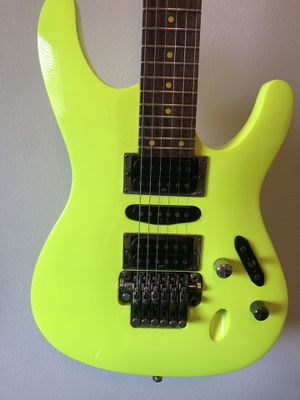 Ibanez S1XXV Fluorescent Green Electric Yellow 25th Anniversary Limited for Sale in Spring, TX