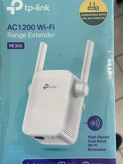 TP-Link | AC1200 WiFi Range Extender | Up to 1200Mbps | Dual Band WiFi Extender, Repeater, Wifi Signal Booster, Access Point| Easy Set-Up | Extends In for Sale in Garden Grove,  CA