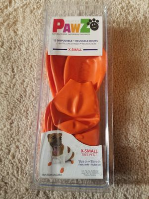 Xsmall rain boots for dog for Sale in Hillsboro, OR