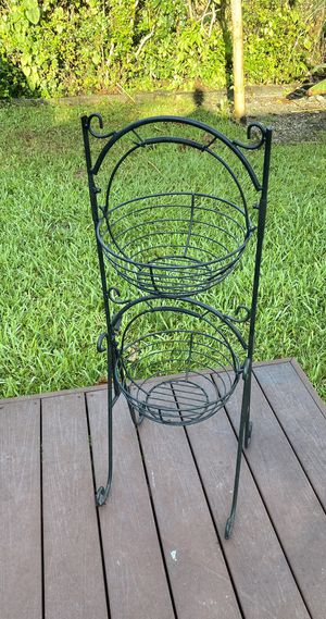 Metal Iron Basket Stand for Sale in Miami, FL