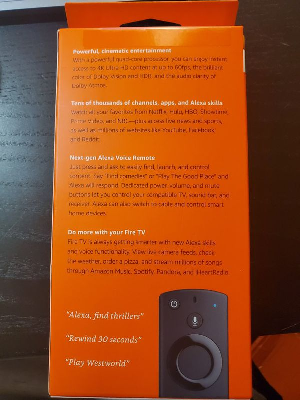 Amazon Fire TV Stick 4K Remote NEW SEALED for Sale in Hayward, CA - OfferUp