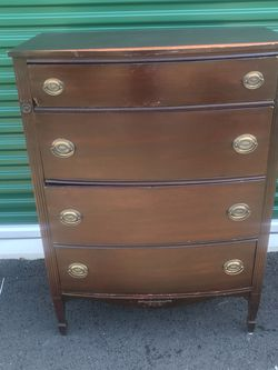 4 drawer Chest In Good Condition Besides Does Of A Little Break Bottom Corner Drawer But Over All It's Fine for Sale in Fredericksburg,  VA