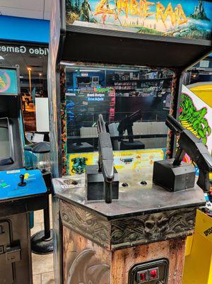 Zombie Raid Full Size Shooter Arcade - 𝐈𝐅 𝐘𝐎𝐔 𝐒𝐄𝐄 𝐌𝐘 𝐀𝐃, 𝐈𝐓𝐒 𝐒𝐓𝐈𝐋𝐋 𝐀𝐕𝐀𝐈𝐋𝐀𝐁𝐋𝐄 for Sale in Avondale, AZ