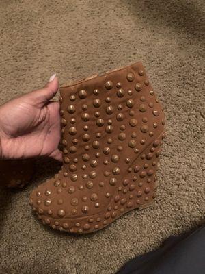 Brown winter heels/boots for Sale in Chamblee, GA