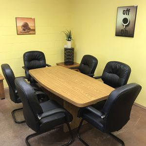 Dining Table With 6 Leather Chairs for Sale in San Diego, CA