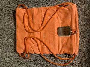 Loctote Flak Sack, theft-proof drawstring bags (gray and orange) for Sale in Virginia Beach, VA