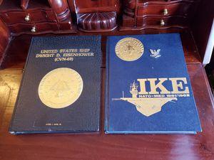 2 USS Dwight D Eisenhower Cruisebooks~1981/82 NATO-MED Cruise~1983 Med Cruise for Sale in Brooksville, FL