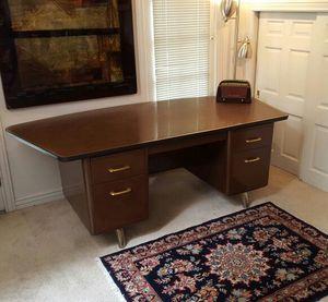 Mid Century Executive Tanker Desk for Sale in Salt Lake City, UT