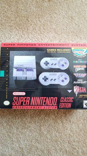SUPER Nintendo SNES CLASSIC EDITION for Sale in Denver, CO