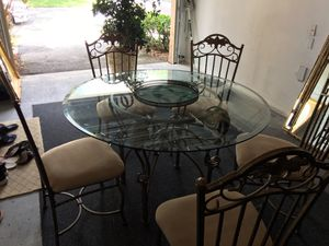 $200 Glass Table with 5 Chairs for Sale in Coral Springs, FL