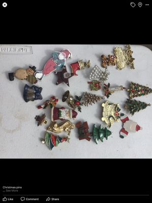 Christmas brooches / pins for Sale in New Lexington, OH