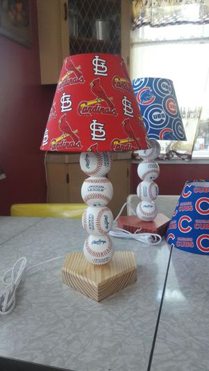 St. Cardinals lamp. Real baseballs for Sale in St. Louis, MO