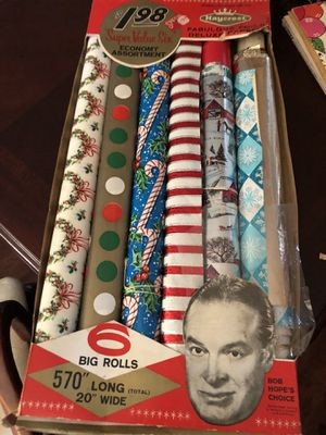 Authentic antique vintage gift wrap. 6 rolls in tact. One used. The real deal. 22.00. 🎅🏼Johanna. 212 North Main Street buda. Message me to be sur for Sale in Austin, TX