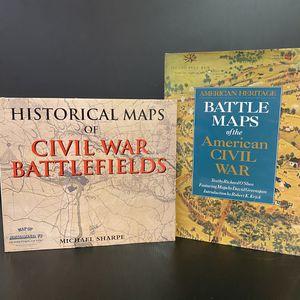 Historical Maps of Civil War Battlefields & American Heritage Battle Maps of the American Civil War for Sale in San Jose, CA